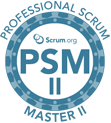 professional scrum master II psm II training logo